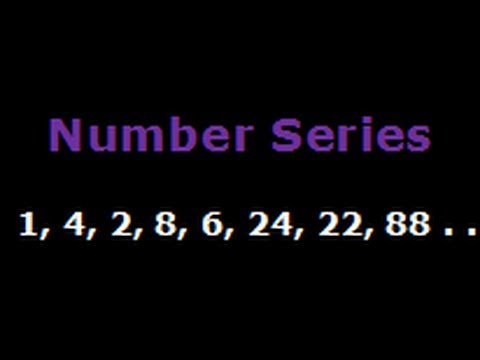 Recognise the pattern in Number Series - 1, 4, 2, 8, 6, 24, 22, 88, ___  (HARD PROBLEM)