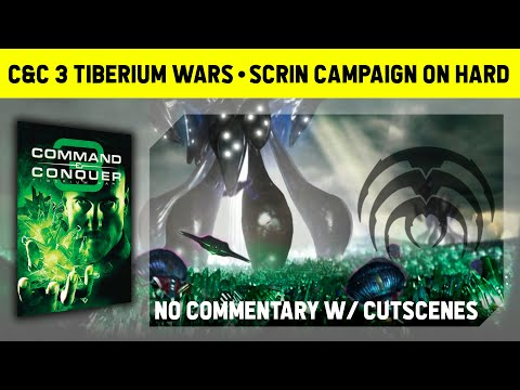 C&C 3 Tiberium Wars - Scrin Campaign On Hard - No Commentary With Cutscenes [1080p]