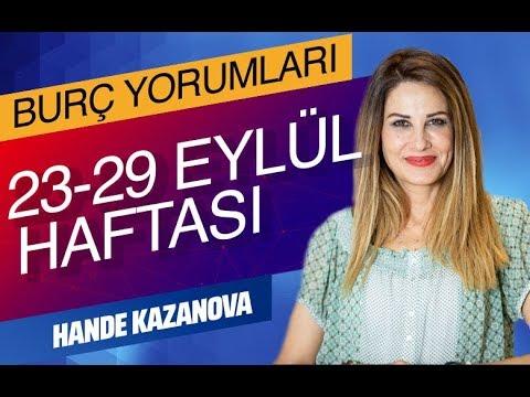 HANDE KAZANOVA'DAN HAFTALIK BURÇ YORUMLARI (23-29 Eylül 2019 - CevaplaTV)