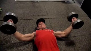 Full Chest Workout With Dumbells & Cables!