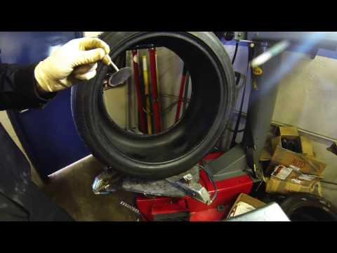 Tire Repair BMW X5 Shums Auto Repair Corghi 500 tire machine