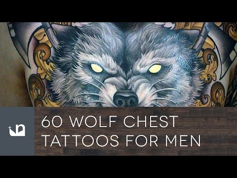 60 Wolf Chest Tattoos For Men