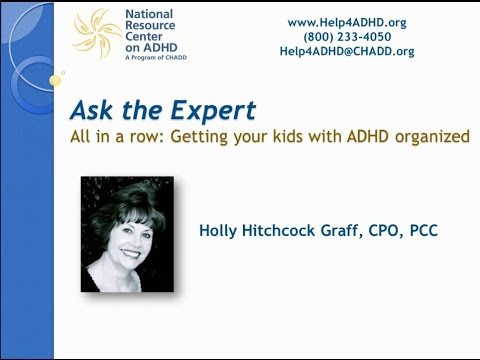 All in a row: Getting your kids with ADHD organized