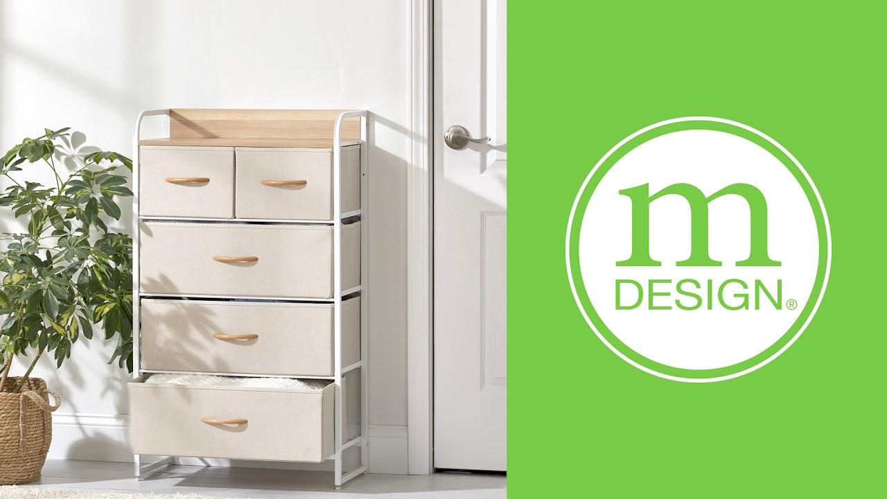 Tall Dresser 5 Drawer Storage Chest