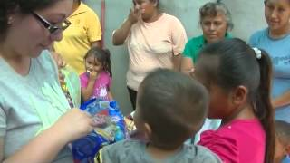 Giving Out Candies to the Children of Rancho Sauz - Mission Trip to Ciudad Victoria 2014