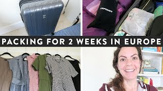 PACKING for a 2 WEEK EUROPEAN Vacation | Preparing for a SUMMER CRUISE Adventure