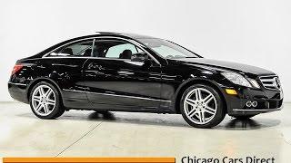 chicago cars direct reviews presents a 2010 mercedes benz e class e350 coupe sport f031159