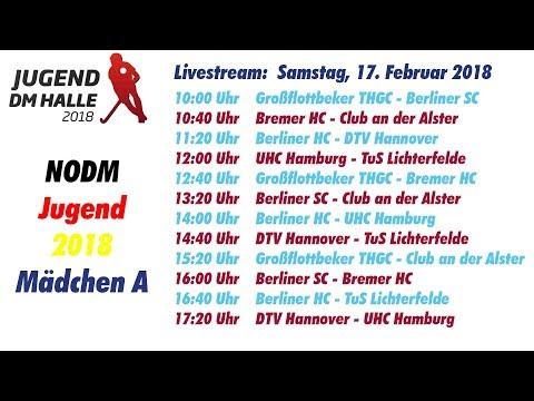 UHC Live  - Hallenhockey Mädchen A Nord-Ostdeutsche Meisterschaft 17.02.2018