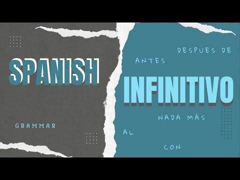 Spanish Infinitive | Infinitivo - Shortening Of Sentence | Spanish Grammar