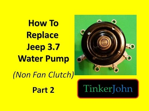 jeep 3 7 water pump replacement part 2 of 5 youtube. Black Bedroom Furniture Sets. Home Design Ideas