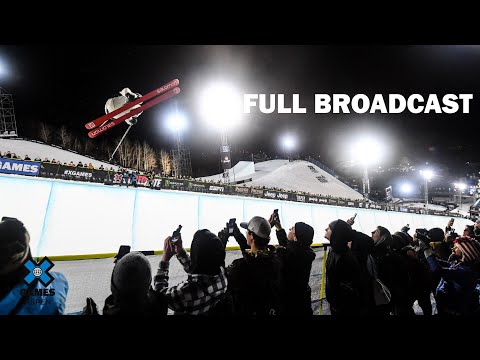Great Clips Men's Ski SuperPipe: FULL BROADCAST   X Games Aspen 2020