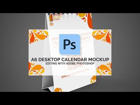 desk calendars mock up graphicriver