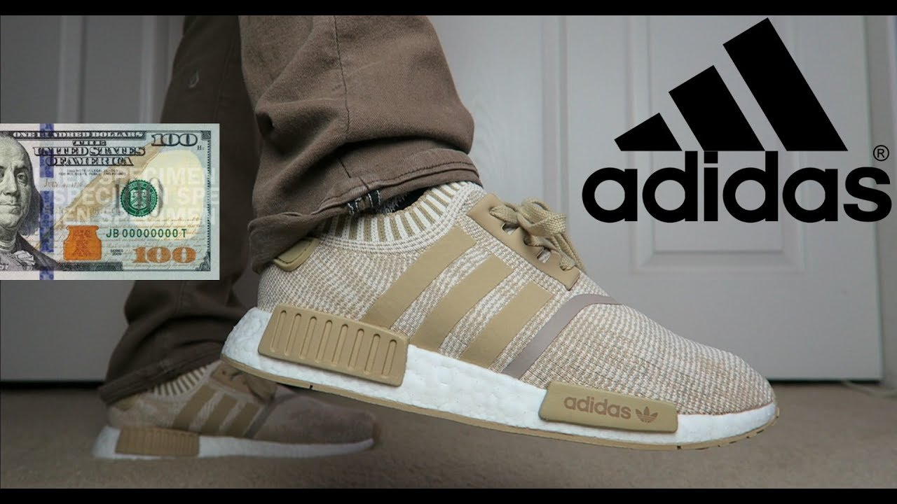 7a98b1251a319 NMD R1 LINEN KHAKI FOR ONLY 100 DOLLARS!!!!! - YouTube