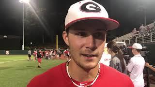 Georgia shortstop Cam Shepherd on his 3-hit night, @MikeGriffith32 video