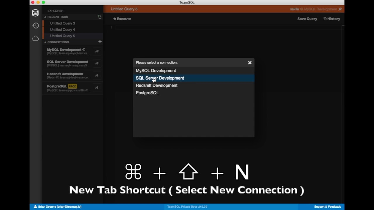 [HOW TO] Open New Tab & New Tab with Selecting Connection
