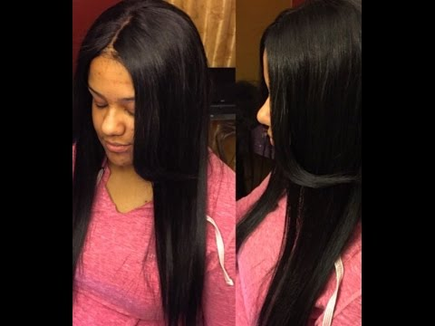 Tutorial lace closure sew in no hair left out no glue youtube pmusecretfo Gallery