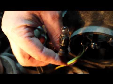 Замена лампы габаритного