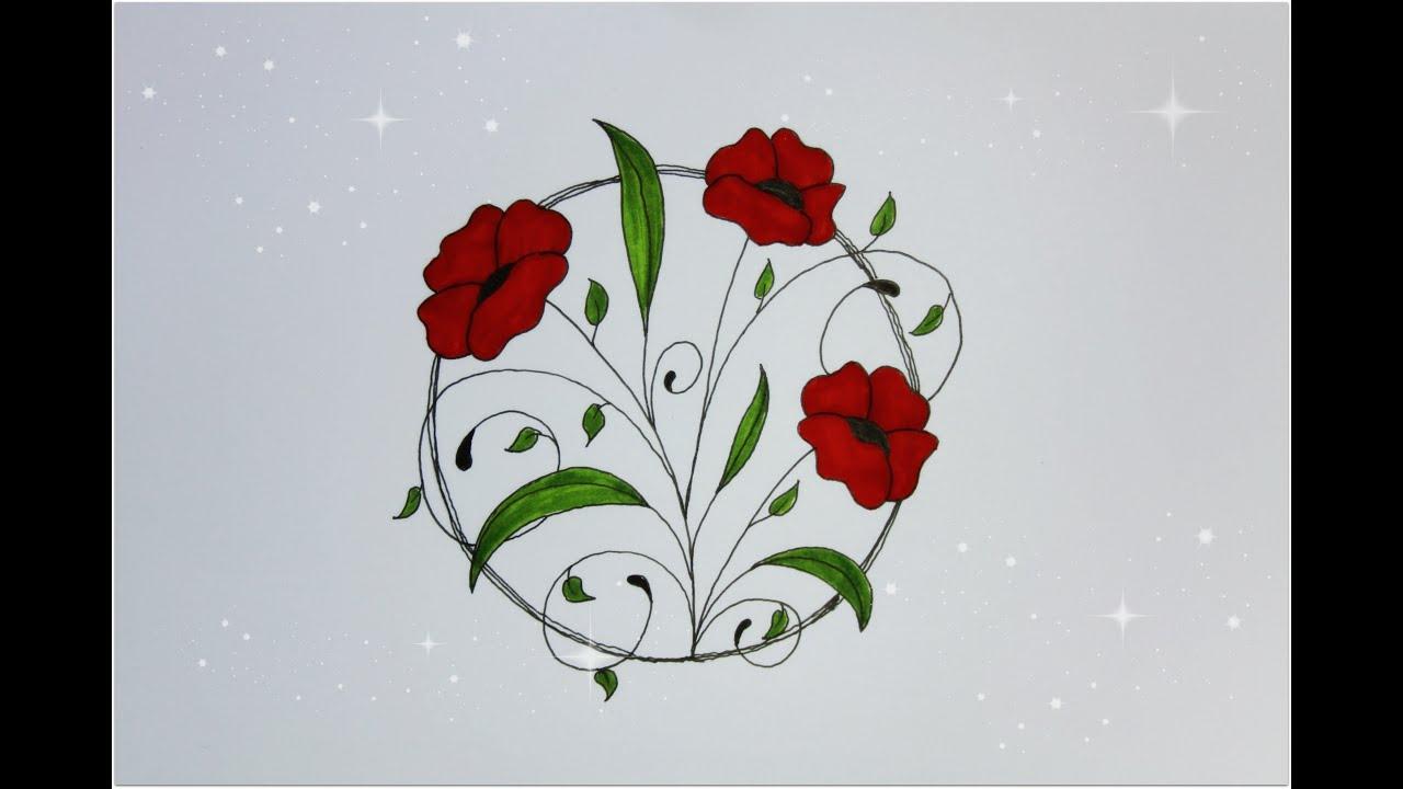 Draw Flower - Easy Drawing Beginners