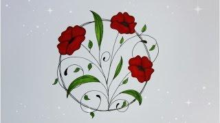 easy drawing beginners flowers flower drawings simple floral step draw paintingvalley