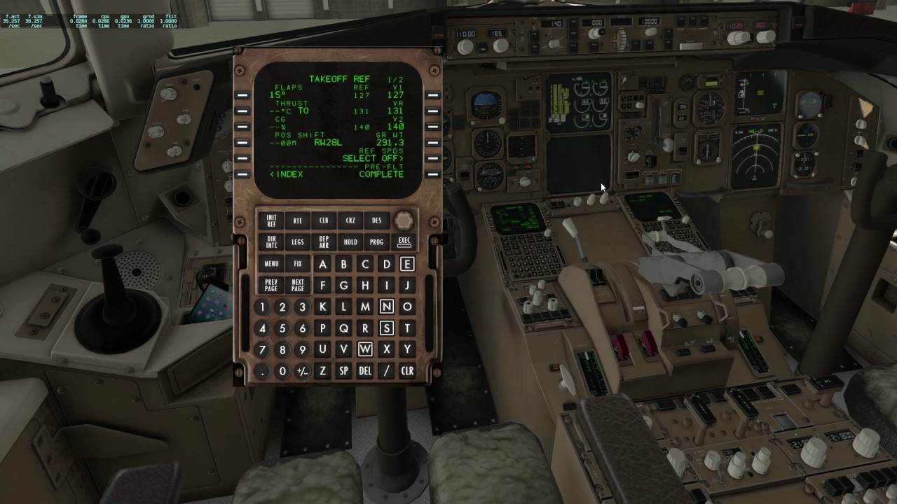 X-Plane 11 Boeing 767 - start up and take off