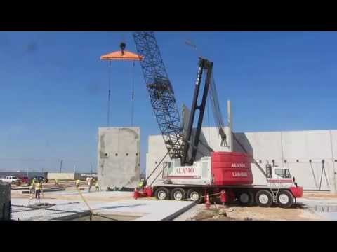 Alamo Crane Link Belt Hc 278 Lifting Wall Panels Youtube
