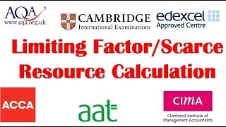 Limiting factor/Scarce resources (AQA Accounting past paper June 2012 Q4)