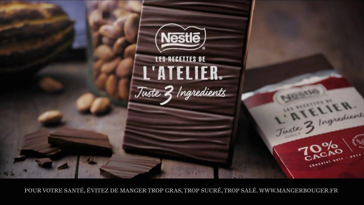 """Musique pub Les recettes de l'atelier Nestlé """"juste 3 ingrédients""""  juillet 2021"""