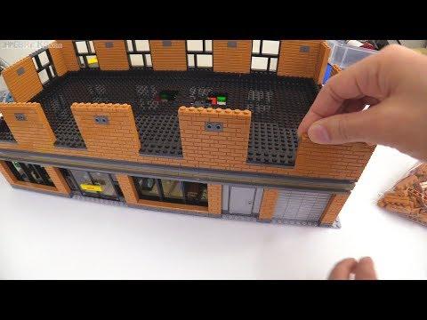 Time-lapse ⏩ LEGO music shop & laser tag MOC progress 7