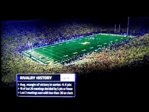 Michigan stadium finally creating some atmosphere..