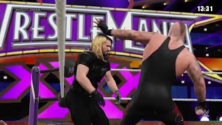 WWE 2K15-  Undertaker vs Seth Rollins Iron Man Match at Wrestlemania (PS4)