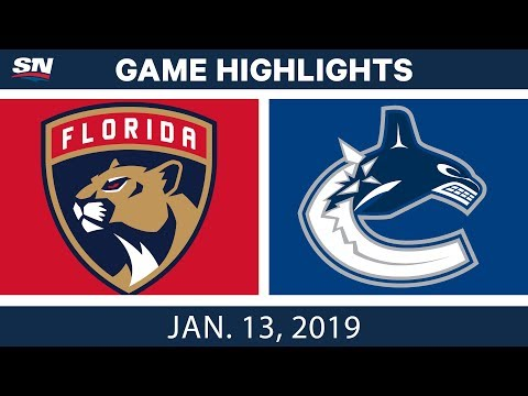 NHL Highlights | Panthers vs. Canucks - Jan. 13, 2019