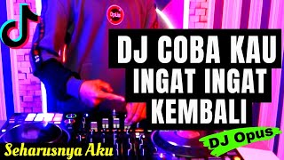 DJ COBA KAU INGAT INGAT KEMBALI TIK TOK VIRAL 2021 | DJ SEHARUSNYA AKU REMIX (MAULANA WIJAYA)