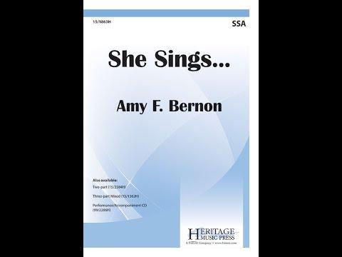 She Sings  Amy F Bernon