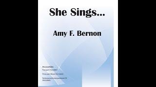 She Sings - Amy F Bernon