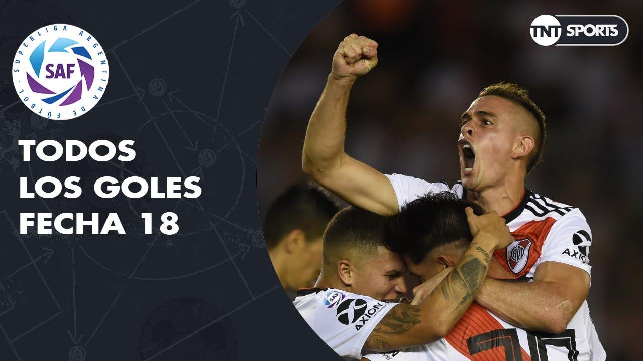 Todos los goles de la Fecha 18 - Superliga Argentina 2018/2019
