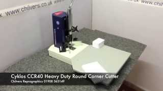 Cyklos Ccr40 Heavy Duty Manual Round Corner Cutter