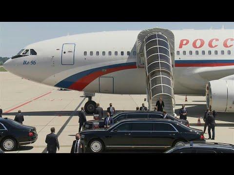 Russian President Vladimir Putin lands in Geneva for summit