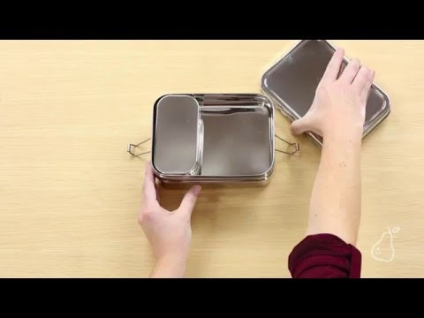 Three-in-One Giant Metal Lunch Box by ECOlunchbox