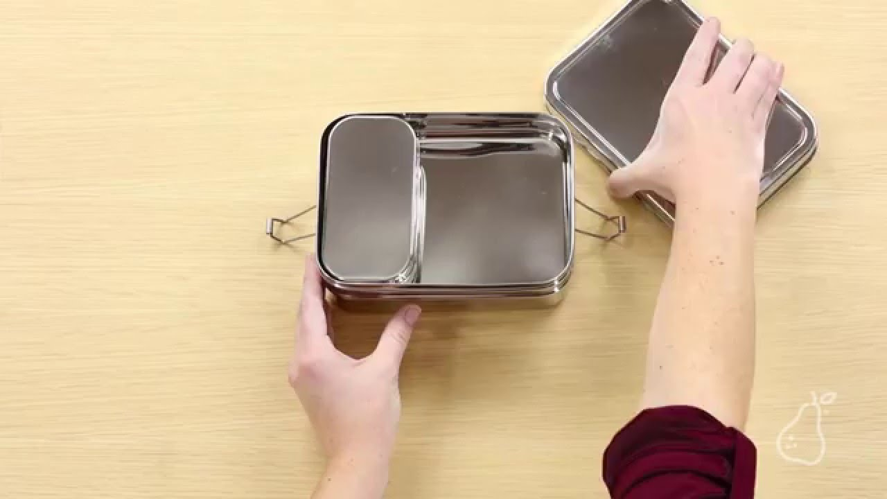 Three-in-One Giant Metal Lunch Box by ECOlunchbox - YouTube