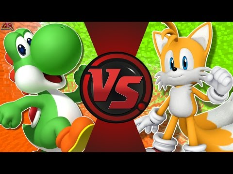 YOSHI vs TAILS! (Mario vs Sonic) Cartoon Fight Club Episode 171