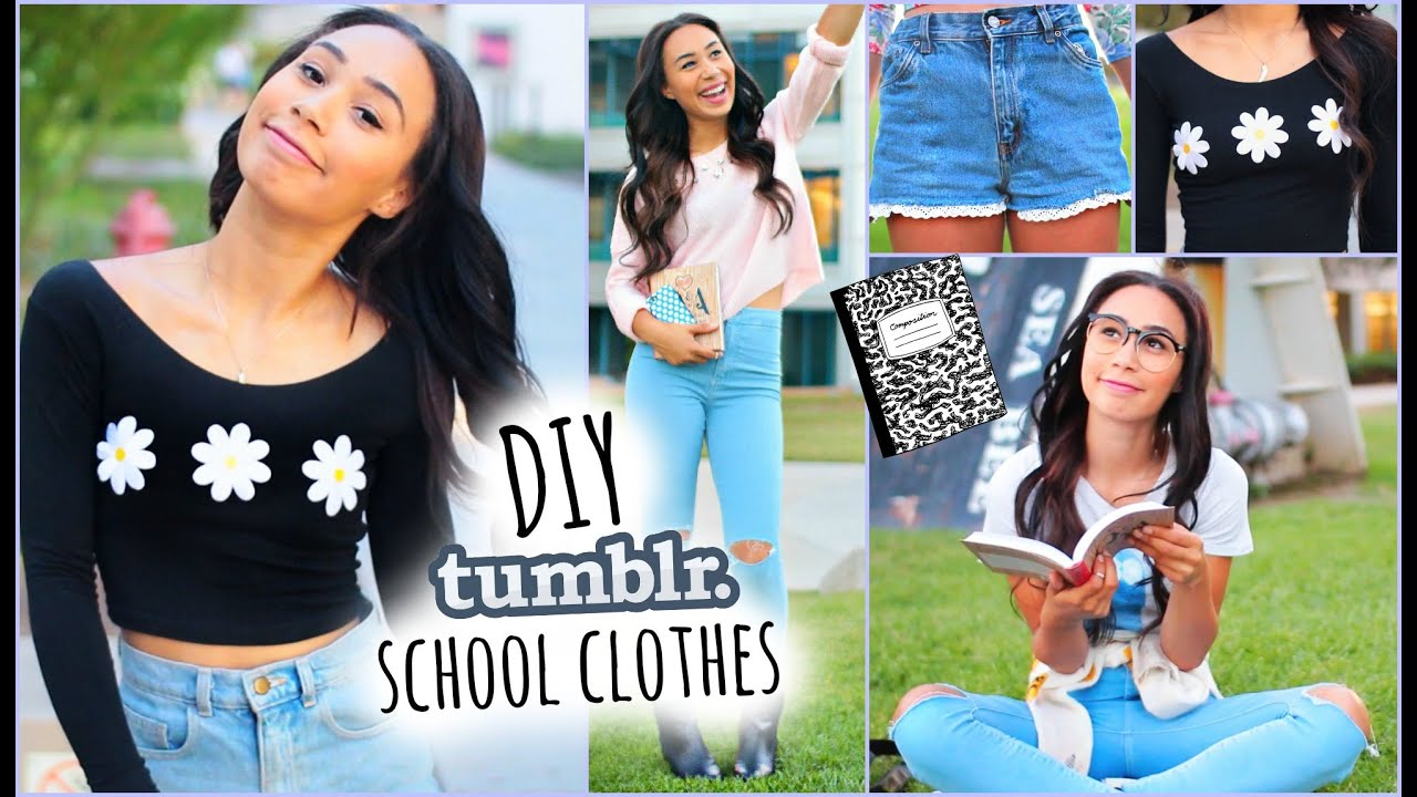 DIY Tumblr Inspired School Clothes! Shopping Life Hacks ...