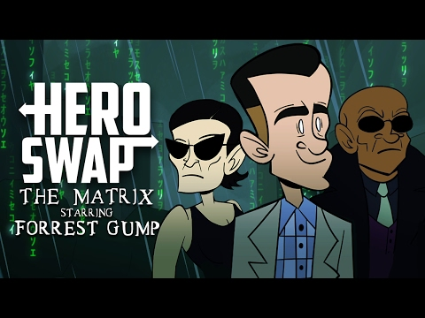 The Matrix Starring Forrest Gump - Hero Swap