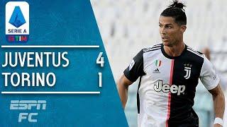 Juventus 4 1 Torino: Gianluigi Buffon, Cristiano Ronaldo Make History In Derby | Serie A Highlights