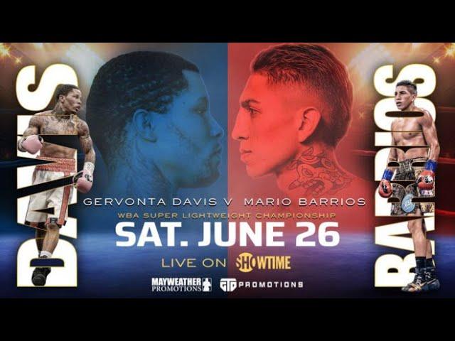 Gervonta Davis ante Mario Barrios, duelo de invictos con titulo mundial de  por medio - YouTube
