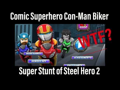 IOS Game Review 4 - Comic Superhero Con-Man biker - Worst IOS Games