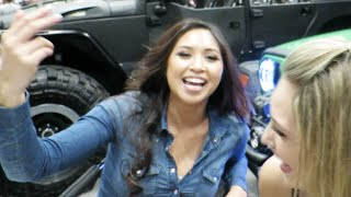 My 2 New Hott Friends! (SEMA 2015 Day 2)