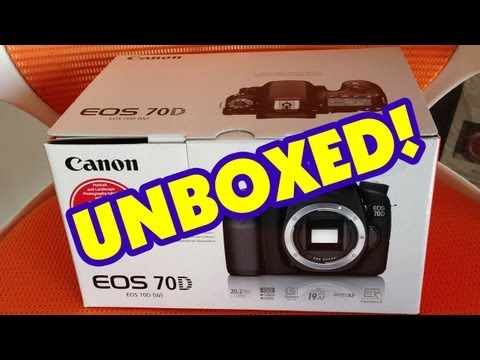 Canon EOS 70D & 18-135mm STM Lens Unboxing & First Look