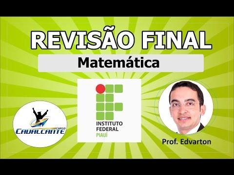REVISÃO DE MATEMÁTICA PARA O IFPI 2016
