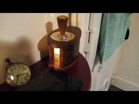 Vintage Casco Wooden Electric Table Lighter