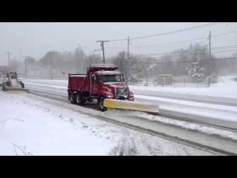 Plowing snow in Milton Ma
